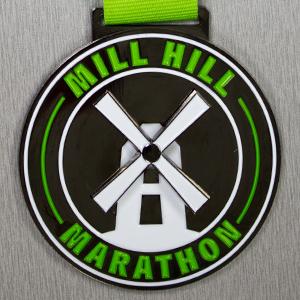 Spinning Mill Hill Marathon Bespoke Medals