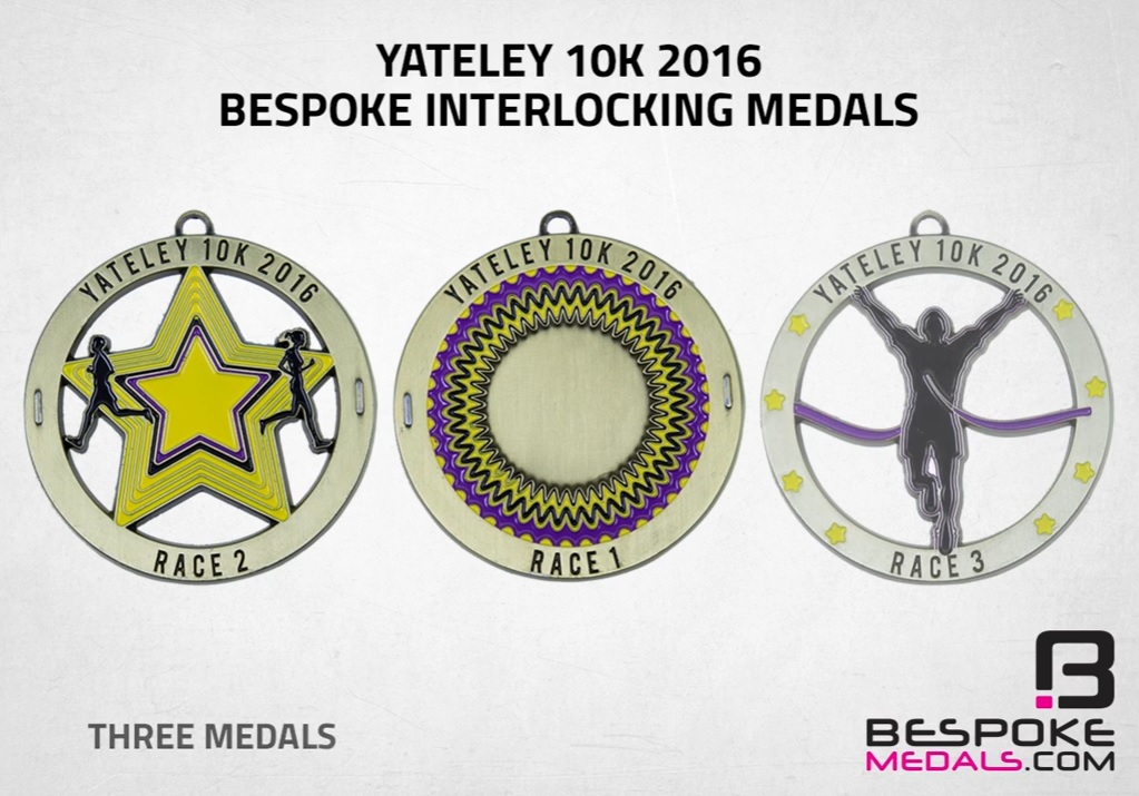 Yateley 10K Bespoke Medals