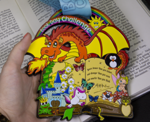 Colourful medal designed for Book Day Challenge