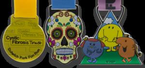 Colour Sprayed Medals