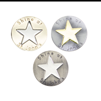 Duo Tone Pin Badges