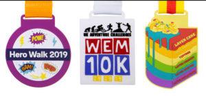 Silicone Line Up 8 - Hero Dash 2019, WEM 10K, Layer Cake Trail Marathon