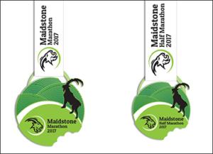 Bespoke Medals Created For Maidstone Marathon & Half Marathon