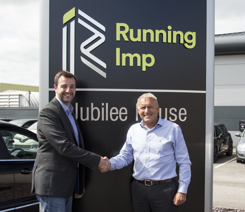 Mike Seaman (Managing Director Raccoon Events) and Chris Illsley BEM (CEO and Co-Founder Running Imp)