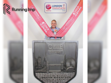 Co-CEO Chris Illsley with the London Marathon Medal 2018