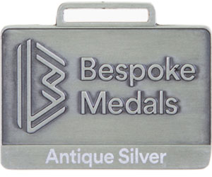 Antique Silver Pin Badge Finish