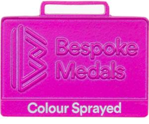 Colour Sprayed Pin Badge Finish