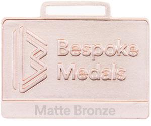 Matte Bronze Pin Badge Finish