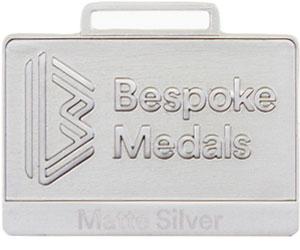 Matte Silver Pin Badge Finish