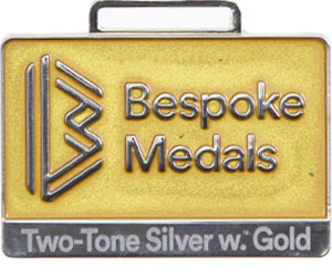 Two-Tone Silver with Gold Pin Badge Finish