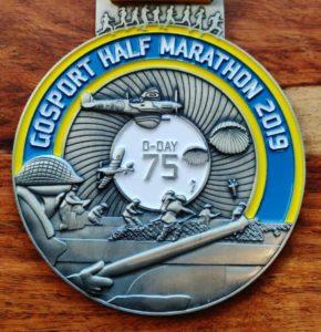 Gosport Half-Marathon Medal Front - Bespoke Medals