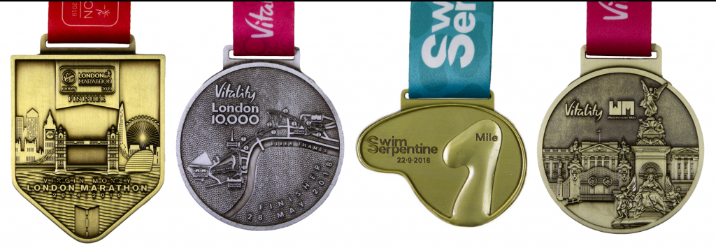 Popular Medals 1 - Four Marathon Medals