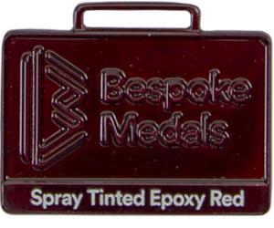 Spray Tinted Epoxy Red Sample